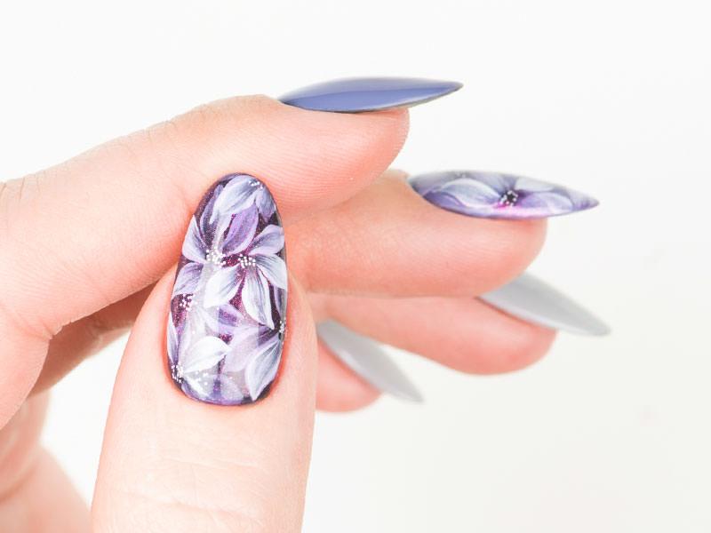 Nuove tendende Nail art - Kateryna Bandrovska: Kombi Flowers