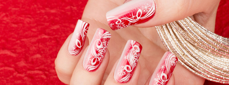 Corso decorazione unghie Christmas Nail Style, nail art by Kateryna Bandrovska