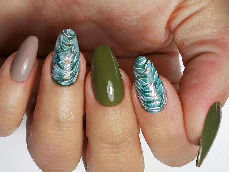 Corso decorazione unghie - Laura Ascione: Eden verde, grigio & petrolio
