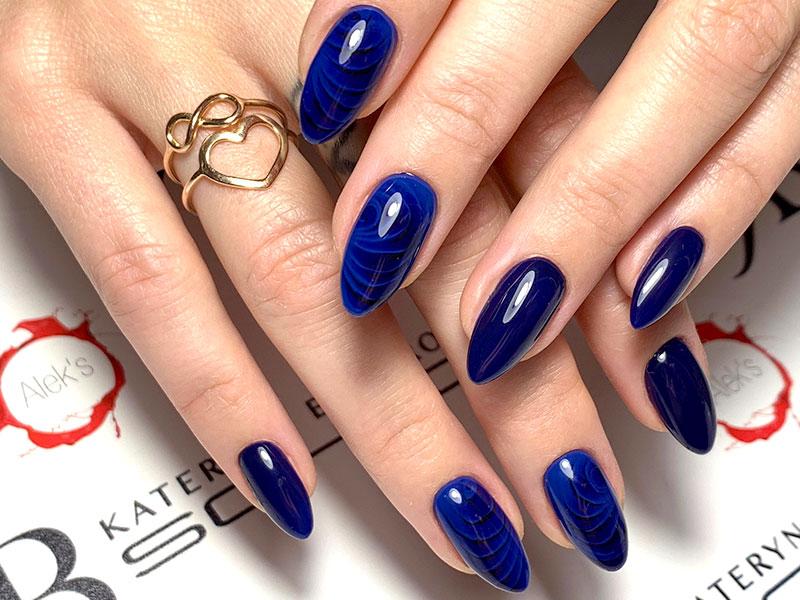 Idee Nail Art - Alek: Kombi Profondo Blu