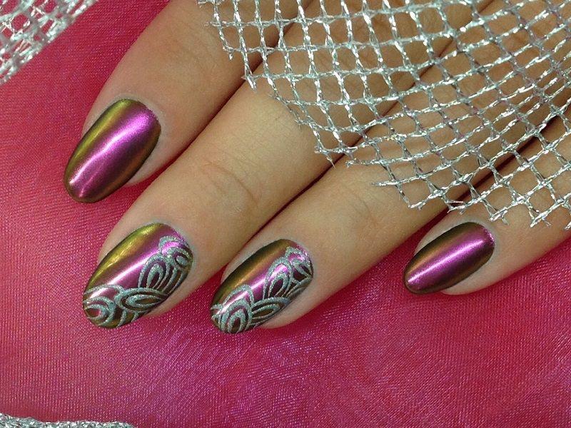 Corso decorazione unghie - Barbara Donini: Chrome Art foglie argento