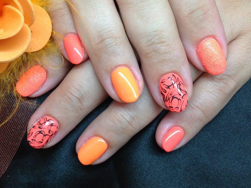 Idee nail art  - Barbara Donini: Deco Black Apricot