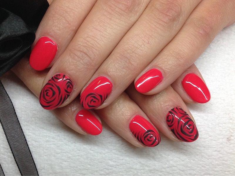 Nuove tendenze nail art - Barbara Donini: rose stilizzate