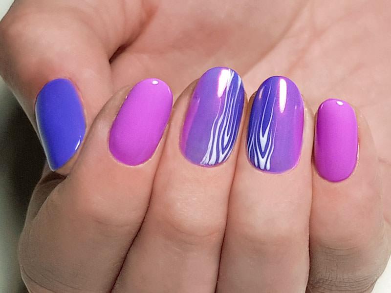 Idee Nail Art - Chiara Milanese: Kombi Shock & Ultraviolet