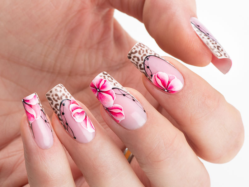 Idee Nail Art - Sara Colleoni: Savana Chic & French