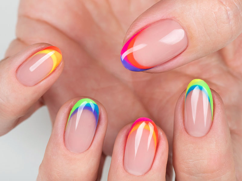 Nuove tendenze Nail art - Lorena Chiarentin: French multicolor