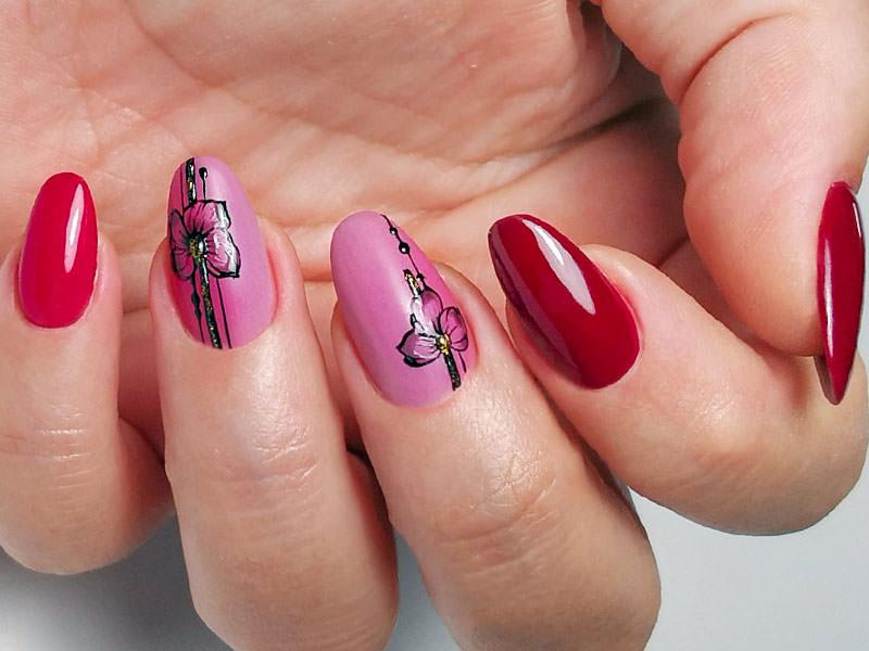 Idee Nail Art - Laura Ascione: Fusion fiorito