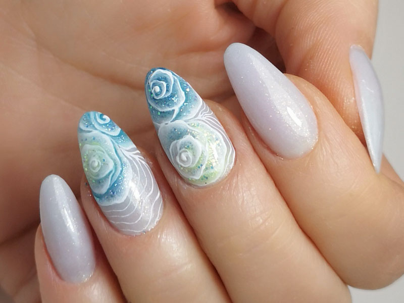 Idee Nail Art - Marzia Appetecchia: Rose sfumate