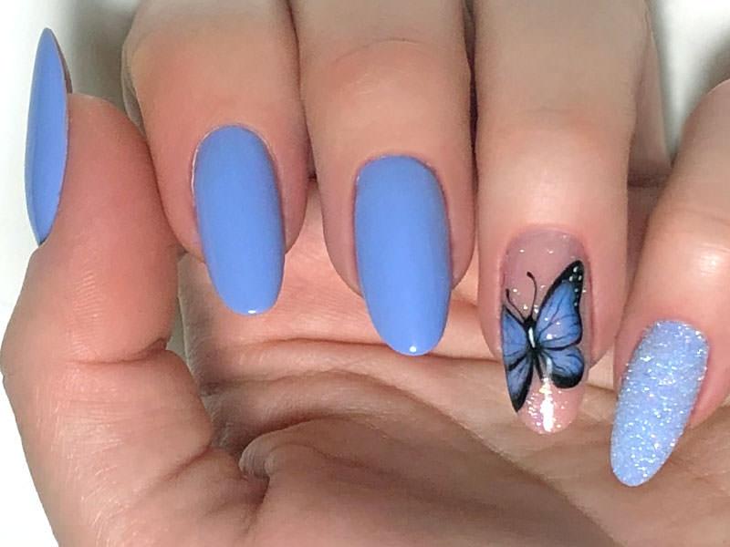 Idee Nail Art - Giulia Paladino: Farfalla sfumata