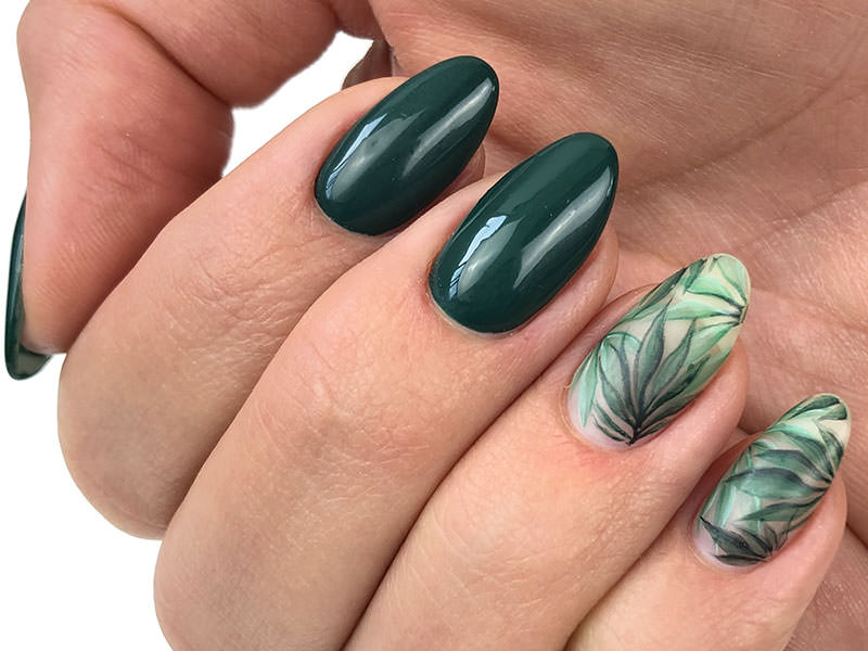 Idee Nail Art - Sara Scarselli: Kombi e foglie