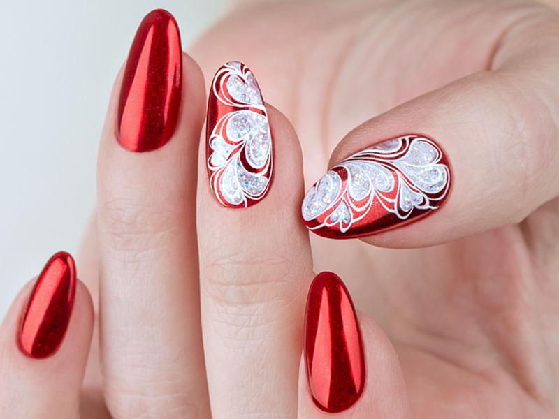 Idee decorazione unghie - Kateryna Bandrovska: Cuori in rilievo