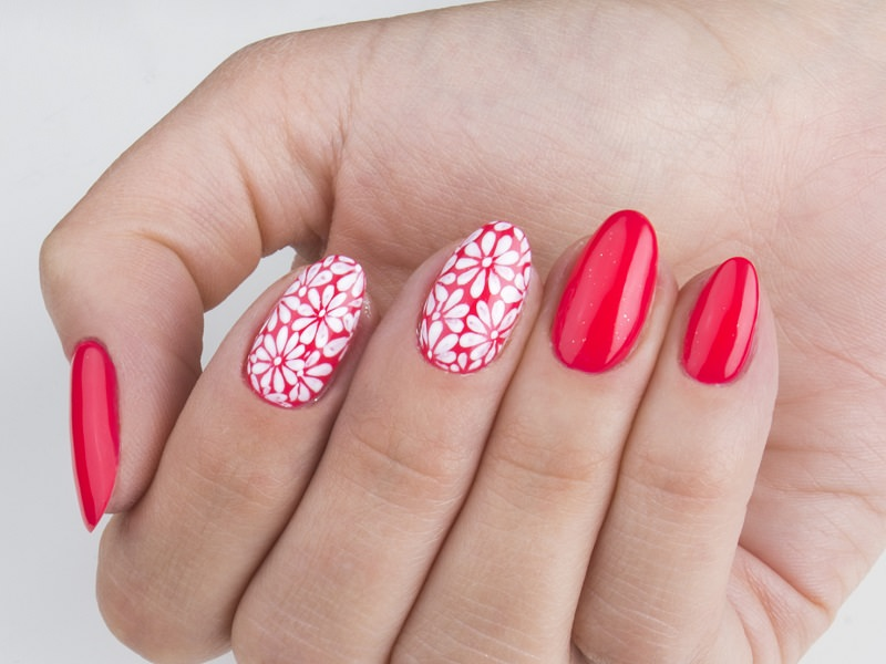 Idee nail art - Kateryna Bandrovska: margherite bianche