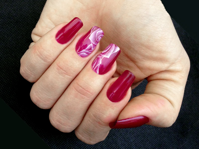 Corsi decorazione unghie - Lorena Chiarentin: Square roses
