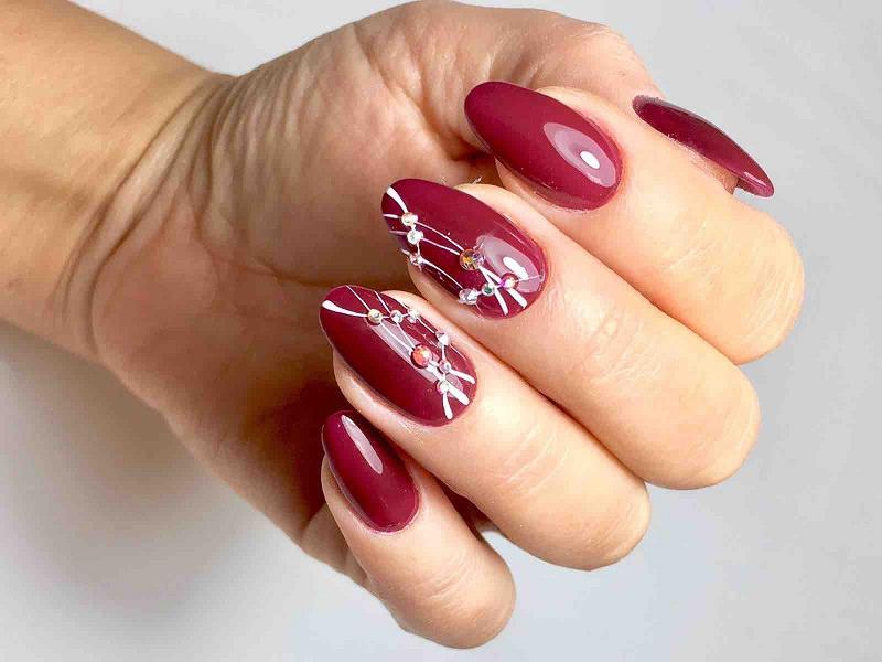 Nuove tendenze nail art - Marzia Appetecchia: Kombi Sangria decorato