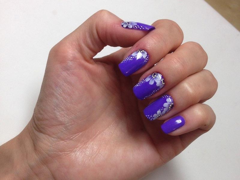 Idee Nail Art - Monica Gardel: Kombi ultraviolet