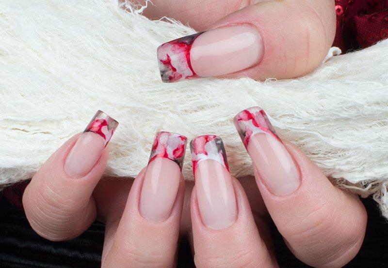 corso decorazione unghie gioia del zotto effetto marmorizzato con colori acrilici a base d'acqua