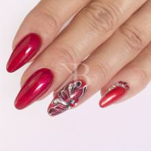 Idee nail art  - Katia Riccio: Illusion flower red