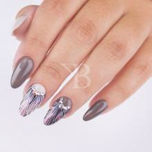 Idee nail art  - Laura Ascione: Illusione FLower Grey