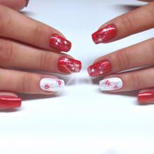 Nuove tendenze nail art - Monica Gardel: Christmas in red & white