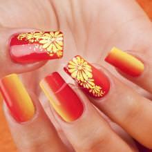 corso decorazione unghie colori vivaci per la spiaggia questa shade giallo  arancio di kateryna egrave decorata