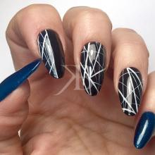 Nuove tendenze Nail art - Pamela De Montis: Easy Paint Black & Blue Night